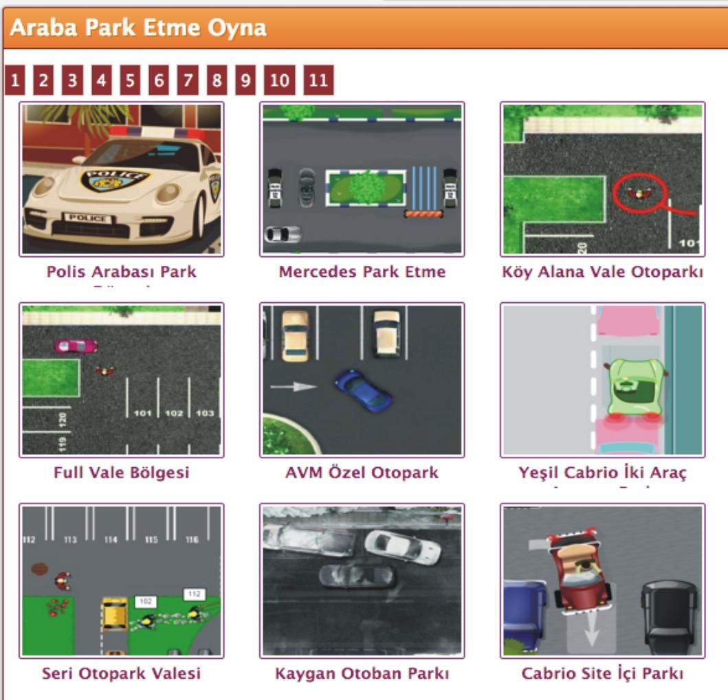 araba park etme oyunları İle keyifli dakikalar geçirin - hudut