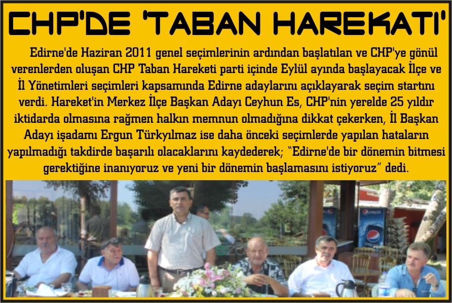 CHP'de 'taban harekatı'